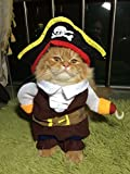 AirFong Fashion Pirates of the Caribbean Design Dog Clothes Costume for Dogs and Cats S