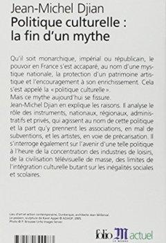 Politique Culturelle:la Fin D'un Mythe