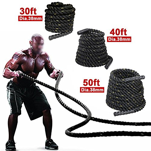 Yaheetech-15-Poly-Dacron-304050ft-Battle-Rope-Exercise-Workout-Strength-Training-Undulation