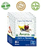 Organic Dried Baby Food Stage 1 - USDA CERTIFIED NON GMO & GLUTEN FREE - 7 Flavored Pouches for Happy Healthy Toddlers - Natural Fruit and Vegetables Mix With Breast Milk Formula or Water