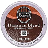 TULLY'S HAWAIIAN BLEND COFFEE K CUP 48 COUNT packaging may vary