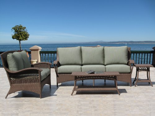3 x5perfect cheap havana brown outdoor patio furniture resin wicker fully assembled 4pc sofa set made in usa sunbrella cushion choice of 12 fabrics search shop time deals