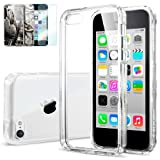 [AIR CUSHION] Spigen Apple iPhone 5C Case ULTRA HYBRID [Crystal Clear] [1 FREE Premium Japanese Screen Protector + 2 FREE Graphics] Scratch Resistant Bumper Case with Clear Back Panel for iPhone 5C - ECO-Friendly Package - Crystal Clear (SGP10675)