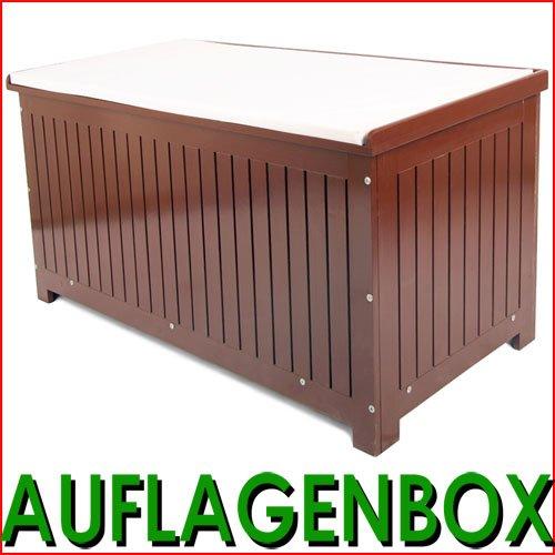 AFLB01 Auflagenbox mit Sitzkissen Gartenbox Gartentruhe Kissenbox Gartenmöbel Garten