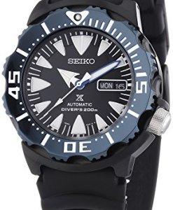 Seiko Automatic Divers - Reloj Analógico de Automático para Hombre, correa de Plástico color Negro