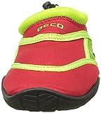 BECO Badeschuhe / Surfschuhe für Kinder rot/grün 24 -