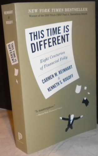 book cover: this time is different