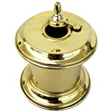 Solid Brass Captain Inkwell with Moving Swivel Lid
