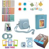 9-Piece-Gift-set-Box-Fujifilm-Instax-Mini-8-Accessories-Bundle-Mini-8-Camera-Accessories-Kit-Includes-Mini-8-Case2-Albums-Selfie-Lens-4-Colored-Filters-10-Wall-Hang-Frames60-Stickers-More