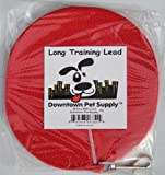 Long Dog Puppy Obedience Recall Training Agility Lead, Leash - RED, 30' Foot - by, Downtown Pet Supply