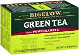 Bigelow Green Tea with Pomegranate 20-Count Boxes , Net weight 1.37 oz (Pack of 6)