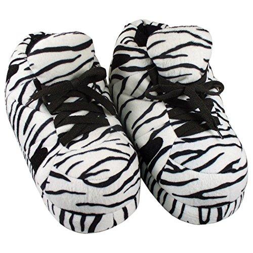 Comfy Feet Snooki's Zebra Print Slippers