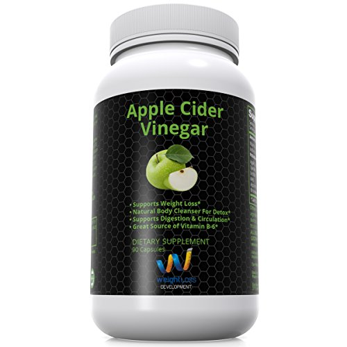 Weight Loss Development - Apple Cider Vinegar Pills - Natural Body Cleanser For Detox And Diet - Supports Digestive System And Supplement Great Source Of Vitamin B - 90 Capsules