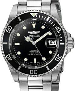 Invicta 8926OB - Reloj analógico automático para hombre, con correa de acero inoxidable, OB Edge Bezel, color negro/plateado