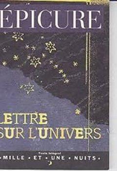 Livres Couvertures de Lettre Sur L'univers