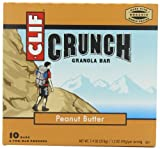 CLIF CRUNCH - Granola Bar - Peanut Butter - (1.48 oz, 5 Two-Bar Pouches)