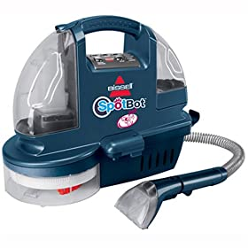 Bissell 1200A SpotBot Pet Hands-Free Compact Deep Cleaner, Blue Illusion