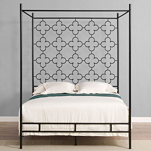 Metal Canopy Bed Frame Full Sized Adult Kids Princess
