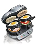 Bonus Pack - Hamilton Beach 25490 Dual Breakfast Sandwich Maker, Makes 2 Sandwiches in 5 Minutes with Bonus Electronic Tripple Kitchen Timer
