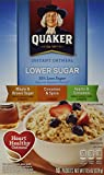 Quaker Instant Oatmeal Apple Cinnamon, Lower Sugar,10.9 Ounce,10-Count Boxes (Pack of 4)