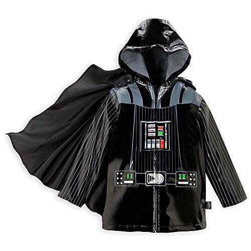 Disney Store Deluxe Darth Vader Rain Jacket Star Wars Size M Medium 7 - 8