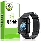 Apple Watch 38mm Screen Protector (Series 1 / Series 2), IQ Shield LiQuidSkin (Updated Design)(6-Pack) Full Coverage Screen Protector for Samsung Apple Watch 38mm HD Clear Anti-Bubble Film