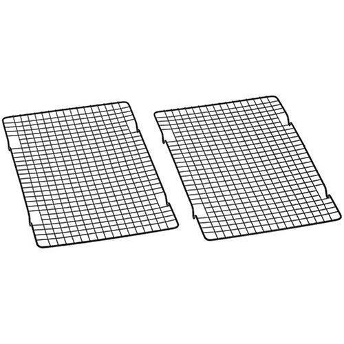 Baker's Secret 1061483 10-by-16-Inch Nonstick Cooling Rack, Set of 2