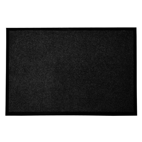 casa pura® Premium Fußmatte in attraktiver Optik | schwarz | 9 Größen
