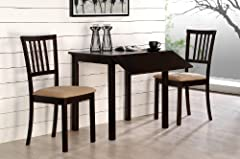 Dropleaf Table and Chairs - Jackson 3pc Dinette Set Cappuccino