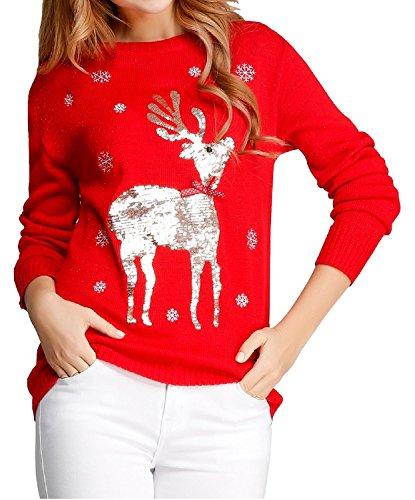 Ugly-Christmas-Sweater-V28-Womens-Ladies-Girl-Xmas-Santa-Deer-3D-Knit-Jumper