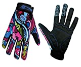 QEPAE® Breathable Cycling Gloves Anti-slip Full Finger Gel Gloves for Bicycle Riding Skiing - Gorgeous Color