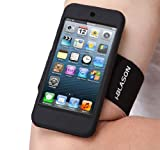 i-Blason Armband and Silicone Case for iPod touch 5G with Screen Protector (Black)