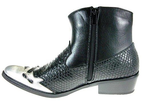 53b8f89b7 Alfa Men s M1794 Short Westren Cowboy Boots Faux Snake Skin
