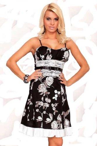 Korsagen Kleid schwarz 60er Jahre Petticoat Stil