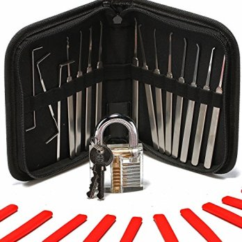 Longans-15-Piece-Lock-Pick-Set-with-Clear-Practice-Lock-and-Lock-Picking-Ebook-Includes-Stainless-Steel-Locksmith-Picks-See-Through-Practice-Lock