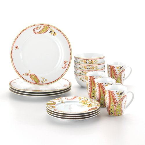 Rachael Ray Dinnerware Paisley 16-Piece Dinnerware Set