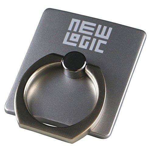 NEWLOGIC C-Ring スマホ タブレット 用 落下防止 マルチ ホルダー リング & スタンド iPhone / iPad / iPod / Galaxy / Xperia フック付き シルバー