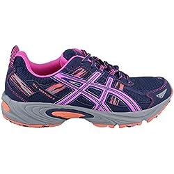 ASICS Women's Gel-Venture 5 Running Shoe, Indigo Blue/Pink Glow/Living Coral, 8 M US