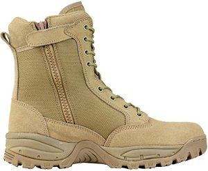 Maelstrom Men's TAC FORCE 8 Inch Military Tactical Duty Work Boot with Zipper, Tan, 13 M US