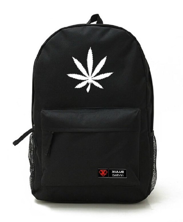 YOYOSHome® Unisex Marijuana Weed Leaf Cannabis Backpack School Shoulder Bag