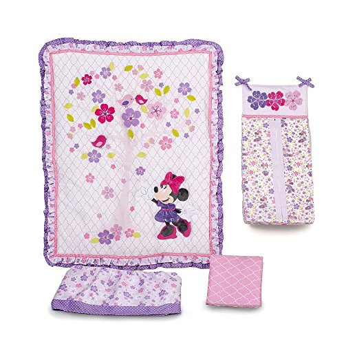 Love Blossoms - Minnie Mouse Crib Bedding Set