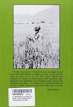 Livres Couvertures de La révolution d'un seul brin de paille : Une introduction à l'agriculture sauvage