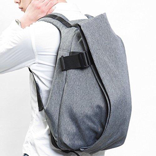 (コートアンドシエル) Cote&Ciel Laptop Rucksack/Mサイズ/(13-15インチ) ノートパソコン/Macbook 収納 リュック/バックパック [並行輸入品] Black Melange | CCLRS150-BML
