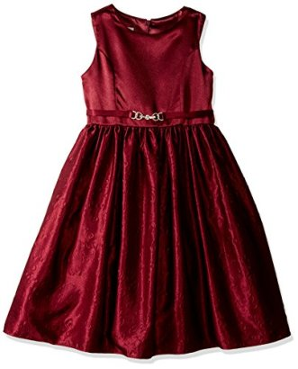 American-Princess-Girls-Satin-Embossed-Skirt-Occasion-Party-Dress