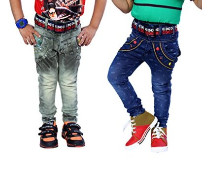 AJ-DEZINES-Big-Boys-Pack-Of-2-Denim-Jeans-7-8-Years-Blue-Green