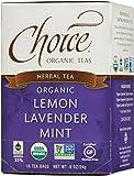 Choice Organic Lemon Lavender Mint Her Tea, 16 Count Box