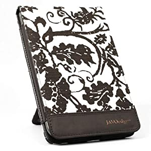JAVOedge Fleur Flip Case for the Barnes & Noble Nook Color (Cocoa) - Latest Generation
