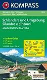 Schlanders und Umgebung / Silandro e dintorni 1 : 25 000: Martelltal / Val Martello. Wandern, Rad, Skitouren / Escursioni, Bike, Sci alpinismo. GPS-genau