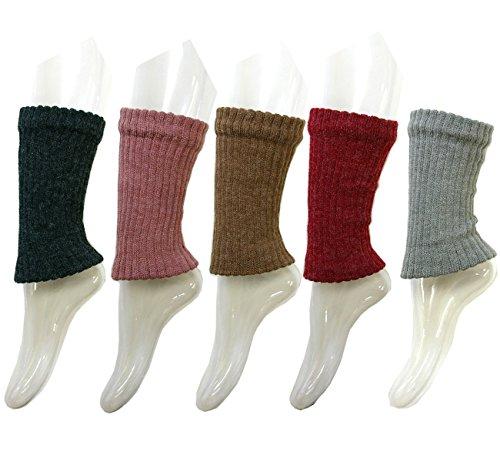 太畦 色おまかせ 冷え取り 男女兼用 裏シルク混二重編み足首ウォーマー レッグウォーマー ショートタイプ 3足セット