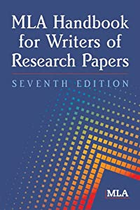 """Cover of """"MLA Handbook for Writers of Res..."""